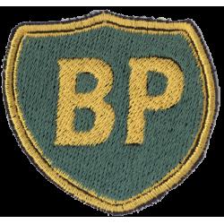 Broderat tygmärke BP logga